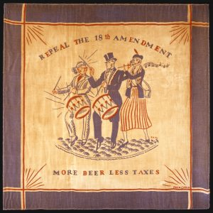 Scarf stating More Beer Less Taxes